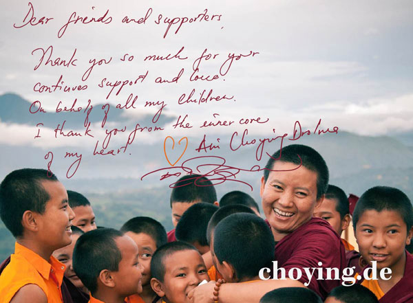 Ani Choying - Thanks from Kathmandu, Nepal